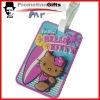 soft PVC travel cartoon luggage tag/handbag tag