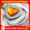 supply crystal metal heart shape foldable promotional bag hanger