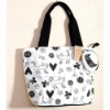 tote bags canvas cotton with zipper