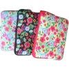 trendy neoprene SBR floral laptop sleeve