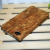 wood grain pu case for iphone4 4S