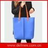 wool felt laptop bag / handbag with leather handles