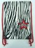 zebra-stripe hippie sling bag